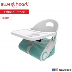'Sweet Heart Paris Portable Foldable Travel Feeding Dining Booster High Chair HC2511 with Food Tray (Teal)'