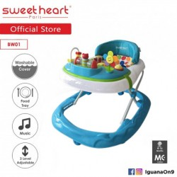 'Sweet Heart Paris Baby Walker BW01 (Blue) With 3 Height Adjustment'