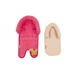 Babyhood 2 in 1 Head Support (Hot & Soft Pink)