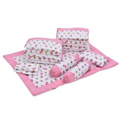 Babylove 7 in 1 Bedding Set (Yummy Cupcake)
