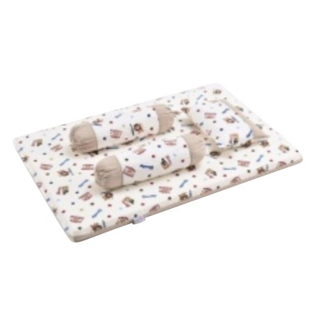 Babylove 4 in 1 Foam Mattress Set + Pillow & Bolsters
