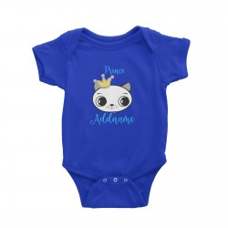 Babywears.my Cat Prince Addname with Crown T-Shirt Personalizable Designs