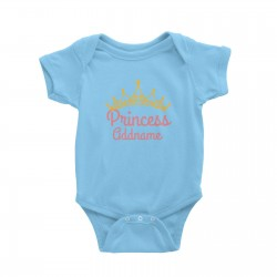 Babywears.my Pink Princess Addname with Tiara T-Shirt Personalizable Designs Pinky For Girls