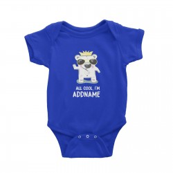 Babywears.my All Cool Polar Bear with Crown Addname T-Shirt Personalizable Designs Animal