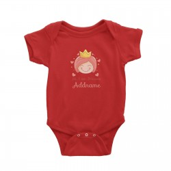 Babywears.my Cute Princess with Tiara Hi I Am Princess Addname T-Shirt Personalizable Designs For Girls
