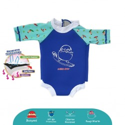 'Cheekaaboo Snugbabes Thermal Swimsuit - Surfer (Summer Paradise)'