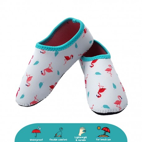 'Cheekaaboo Beach Socks - Flamingo (Summer Paradise)'
