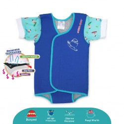 'Cheekaaboo Waterbabes Wrap Thermal Swimsuit - Surfer (Summer Paradise)'