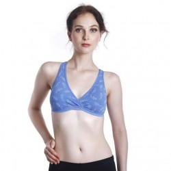 'Fabulous Mom Summertz Nursing Sleep Bra with Removable Padding (Sky Blue)'