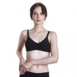 'Fabulous Mom Summertz Cotton Lightly Padded Nursing Bra (Black)'