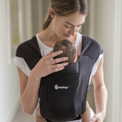 Ergobaby Embrace Cozy Newborn Baby Carrier (Pure Black) + FREE Gift