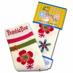 Bumble Bee Hand & Leg Warmers - Scattered Flowers (HLM0019)