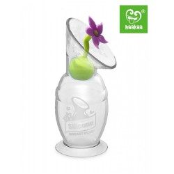 Haakaa COMBO Silicone Breast Pump (100ml) & Flower Stopper