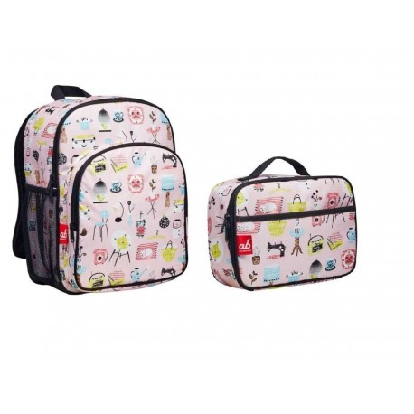 ab New Zealand Toddler Backpack & Lunch Bag Value Combo Set (Household Elements)