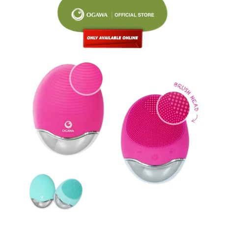 OGAWA Unique Viv 3 In 1 Wireless Silicone Facial Cleansing Brush (Candy Pink)