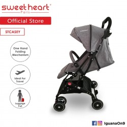 'Sweet Heart Paris Stroller Compact ST CASEY(Grey) with Pull-up Luggage Handle'