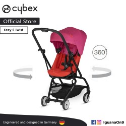 CYBEX GOLD EEZY S TWIST (Fancy Pink) Stroller With 360 Degree Rotation - Cybex Malaysia Official Store