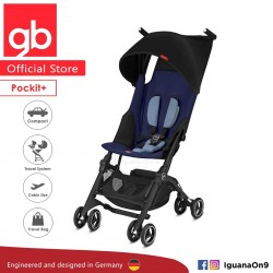 'gb Pockit Plus Stroller (SAPPHIRE BLUE) - World Lightweight Cabin Size Stroller with Reclining Seat'