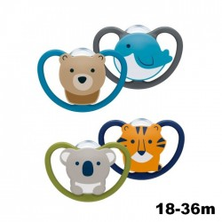 NUK Space Silicone Soother S3 With Cover (18-36m) *2pcs*