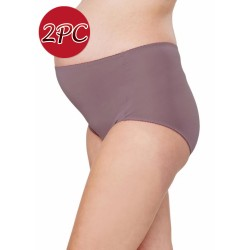 Mamaway Maternity Anti-bacterial High-rise Brief Panties Underwear ( 2pc/ pack ) Purple