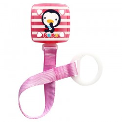 PUKU Baby Soother Pacifier Chain Clip Pink P11114