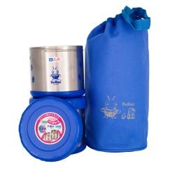 BUBEE M1000B Double Layer Vacuum Lunch Box 0.5L X2 (Light Blue)