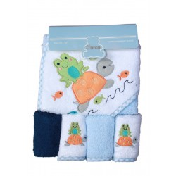 OWEN Baby Towel - 5 Piece Starter Set - BLUE