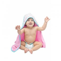 OWEN Baby Knit Hooded Towel, 2 Piece Set (PINK)