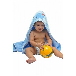 OWEN Baby Terry Hooded Towel with Washcloth (BLUE)