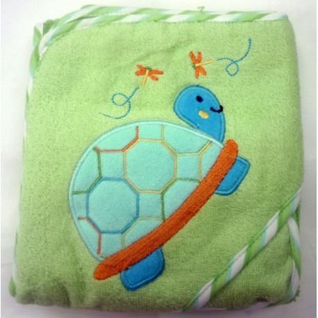 OWEN Turtle Terry Hooded Towel with Washcloth