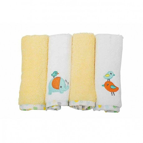 OWEN Elephant Terry Washcloth (4 Piece Set)