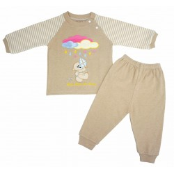 Trendyvalley Organic Cotton Long Sleeve Pyjamas Set (Brown Bear)