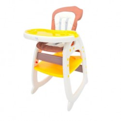 Fair World Baby High Chair BC 505-FW (Orange/Brown)