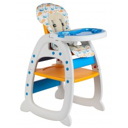 Fair World Baby High Chair (Orange/Blue)